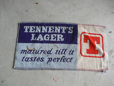 Vintage 1960s Tennent Lager Beer Bar Used Towel