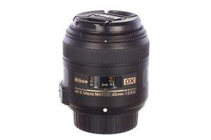 Nikon 40mm f2.8 AF-S Micro Nikkor DX G, mint, 6 month guarantee