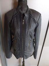 Lederjacke Jacke dunkelblau schwarz Biba Crisca 40 L