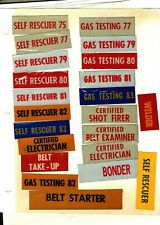 New listing 22 Gas Testing-Self Rescurer-Electrican-Shot Firer Coal Mining Stickers # 1109