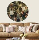 """60"""" GREEN ROUND AUTHENTIC IND DÉCOR TAPESTRY WALL HANGING TAPESTRY TABLE THROW"""