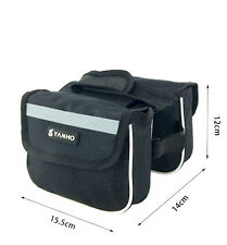 NEW bicycle Double sides pannier Cycling Frame front tube saddle pouch
