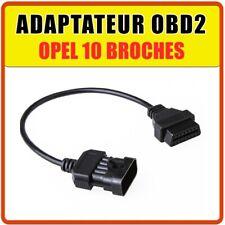 Adaptateur Opel OBD2 vers 10 broches - Compatible OPCOM