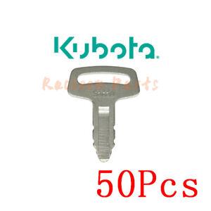 50pcs fits Thomas Skid Steer 53630 Excavators Loaders Kubota IGNITION KEY