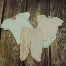 Baby Boxer shirt, bodysuit, & footed bottoms sz 3 mo