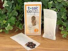 NEW T-Sac Size 2 Pack of 100 Tea Filters - Chlorine Free, For Large Teapots