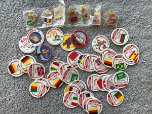 1994 World Cup USA Lot Of 7 Pins & 42 Pogs  McDonalds