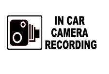 Imán De Grabación Cámara en Tablero En Coche Cámara Dashcam Calcomanía de seguridad vial 200 Mm x 1