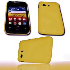 Back Cover Handy Hülle Case Gelb für Samsung S5360 Galaxy Y + Displayschutzfolie
