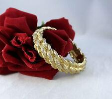 Vintage Castlecliff Gold tone Bangle Bracelet CAt RESCUE