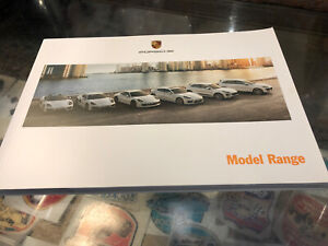 Porsche Model Range 2015 Sales Brochure Booklet