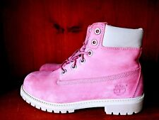 TIMBERLAND Pretty In Hot Pink Chukka Hiking Lace Boots Womens Shoes Sz 5.5 👣b5