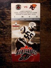 2002 Ottawa Renegades Inaugural Season Ticket stub - Game 5