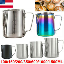 New listing Us Milk Frothing Jug Frother Metal Pitcher Stainles Steel Coffee Latte Container