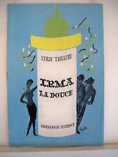 IRMA LA DOUCE Playbill SHANI WALLIS / KEITH MICHELL / CLIVE REVILL London 1960