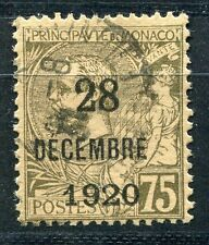 TIMBRE  MONACO N° 49  ALBERT I     surcharge decale