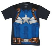 Captain America Winter Soldier Costume Marvel Comics Adult T-Shirt