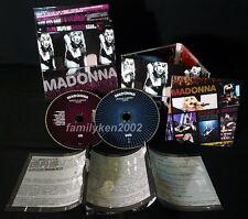 Taiwan LIVE CD/DVD w/Slipcase NEW! Madonna STICKY & SWEET TOUR rebel heart