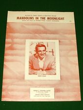 MANDOLINES IN THE MOONLIGHT Sheet Music, Perry Como on Cover,1958 Canada No Tape