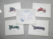 Vintage OLDSMOBILE Issued Lithograph's / Prints / Paintings, 1897,1903,1908,1912