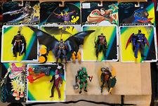 7x Batman Forever Kenner Vintage Lot Konvolut Sammlung Figuren & Cardbacks TOP