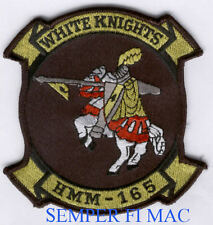 HMM-165 WHITE KNIGHTS AUTHENTIC US MARINE PATCH HELICOPTER PIN UP MCAS MAW WOW