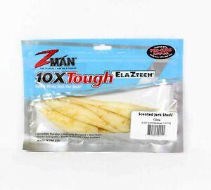 Zman Soft Lure Jerk ShadZ Scented 7 Inch 4 per pack Glow (2192)
