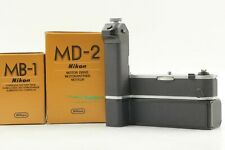 【Unused in box】Nikon MD-2 Motor Drive + MB-1 Battery Pack for Nikon F2 From JP