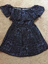 Factorie Size S Viscose Summer Blue Print Dress