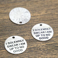15pcs HP Charms silver tone I Solemnly Swear I Am Up To No Good Pendants 20mm