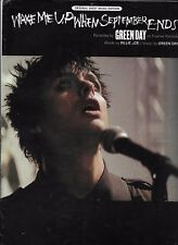 GREEN DAY  Wake Me Up When September Ends  rare sheet music songsheet