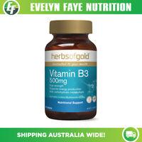 HERBS OF GOLD Vitamin B3 500mg - 60 Tablets | Nicotinamide