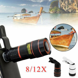 Universal HD Optical Telescope Camera Lens Zoom Clip-on For iPhone X 8 7 Samsung