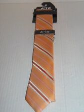 APT.9- MEN -  NECKTIE AND TIE BAR CLIP SET. ORANGE STRIPE. RET.@ $34.00 (LR-1-5)