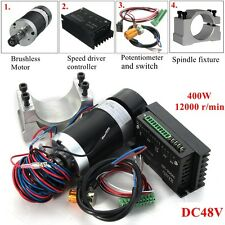 CNC Spindle Motor 400W ER11 Brushless+Speed Driver Controller Kit For Engraving