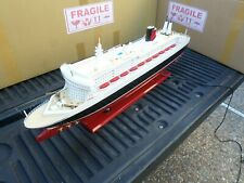 """Queen Mary II high quality wooden model ship with LED lights 32"""" fully assembly"""
