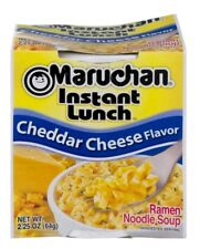 6 PACK Maruchan Instant Lunch Cheddar Cheese Flavor Ramen Noodle Soup Travel