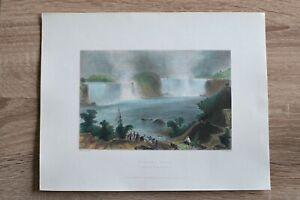 1837 Bartlett print NIAGARA FALLS, FROM CLIFTON HOUSE (#22)