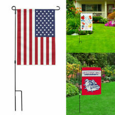37'x17'Garden Flag Iron Pole Outdoor Yard Flags Bracket Banner Stand Us Holder