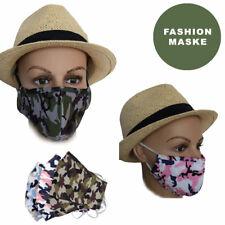 Maske + 2 Filter Mundschutz Wiederverwendbare Stoffmaske Waschbar Atemschutz