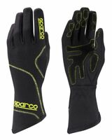Sparco Groove GLOVES size 4-12 Black Yellow KART RACE RALLY Sport Drive