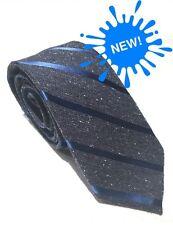 """Mens Express Neck Tie Slim Skinny Narrow 100% Silk Blue Navy Gray  2.75"""""""
