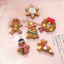 """Set of 6 Gingerbread Christmas Tree Hanging Decoration Table Crackers Gifts SY"""""""