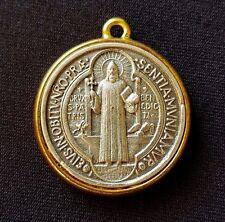 Saint Benedict medal - San Benito - Rome - Gold - pendant - charm - medalla