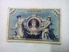 100 Hundert Reichs Banknote Germany February 1908 Green Numbers mark