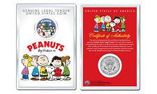 Peanuts CHRISTMAS TREE CAROLERS JFK Kennedy Half Dollar U.S. Coin w/ 4x6 Display