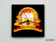 Time for Octoberfest Beer Party Bier Wall Clock