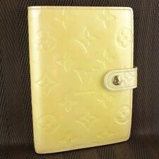 Auth LOUIS VUITTON AGENDA PM Notebook Cover Vernis Leather R21010 Perle