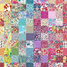 "50 different Liberty Lawn 2.5"" Patchwork Charm Squares - 'LUCKY DIP' - Set 101"