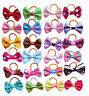 Wholesale Mixed Small Pet Dog Hair Bows w/Rubber Bands Cat Grooming Accessories